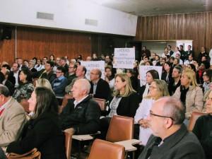 ATENS fez manifestação durante a reunião
